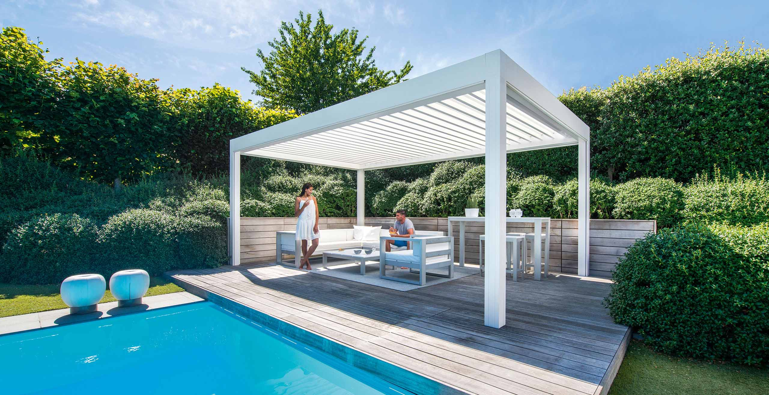 Smuk overkappingen outdoor living